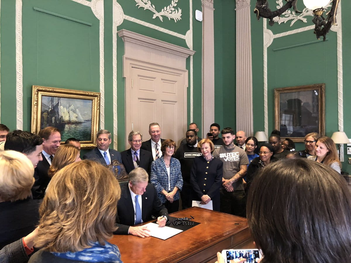 Gov. baker signs the Civics Education bill into law