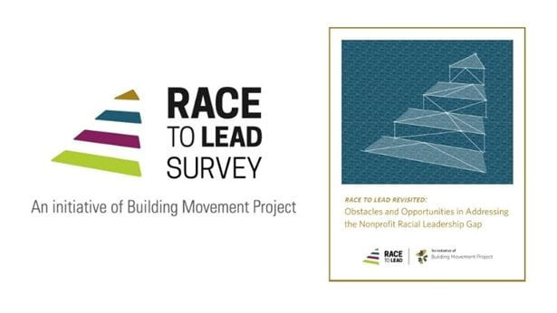 Race to Lead logo and the Race to Lead report cover.