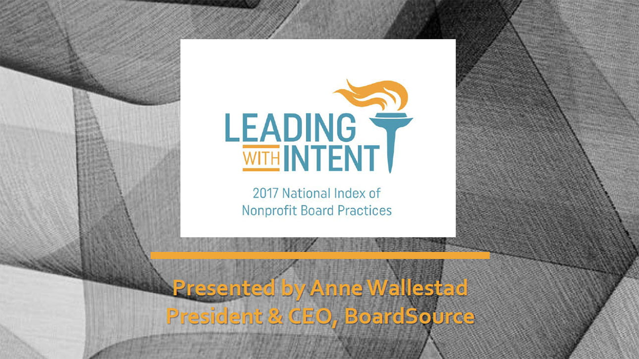Leading with Intent slide cover
