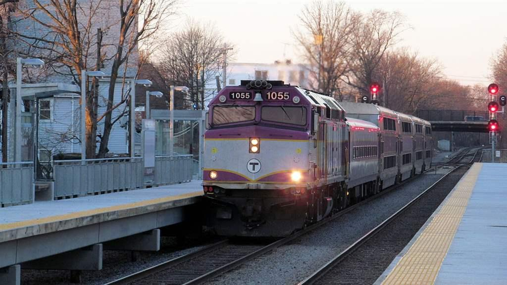 commuter rail car stopped at Talbot Station