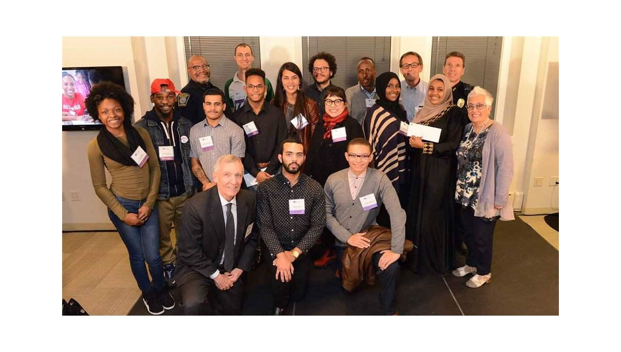 Group photo: 19 people, collaborate boston winners