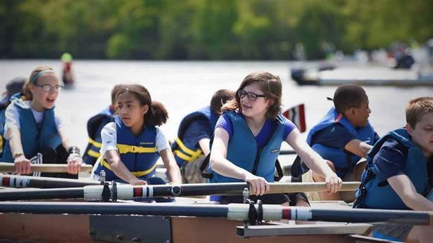 Middle Schoolers row at CRI