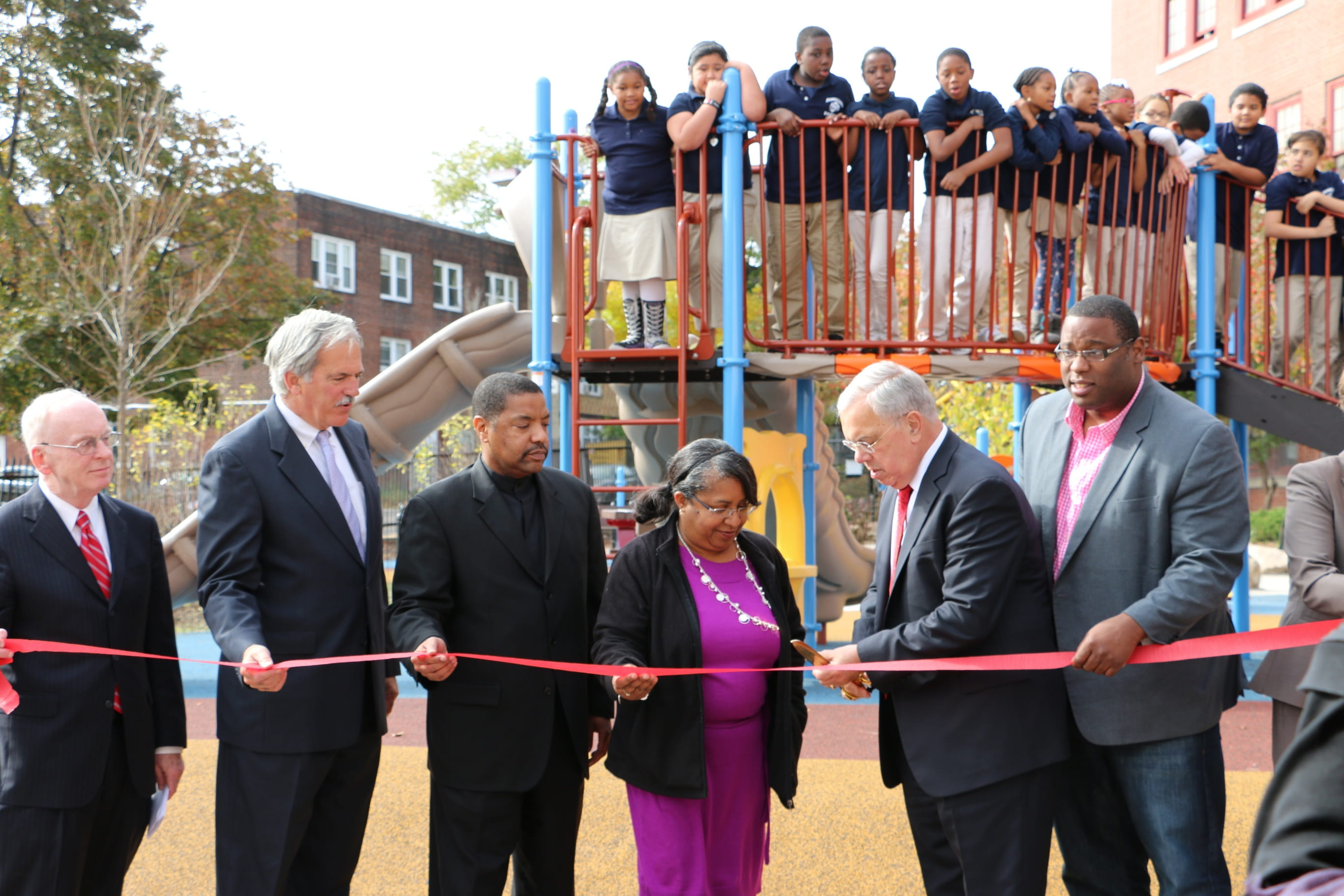 Ribbon cutting - Boston Schoolyards Initiative