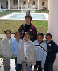 Linda Walczak with students