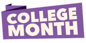College Month logo home