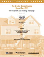 2013 Greater Boston Housing Report Card cover
