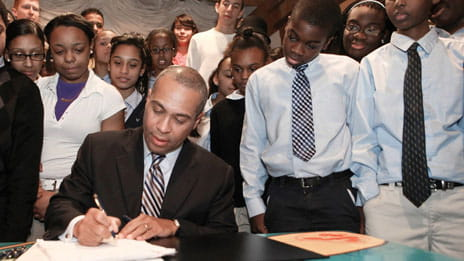 Ed Reform Signing photo